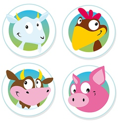 Animal farm label vector