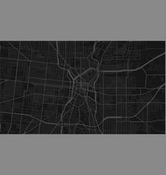 Black and dark grey san antonio city area vector