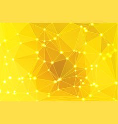 bright golden yellow geometric background with vector image
