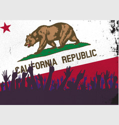 California state flag with audience vector