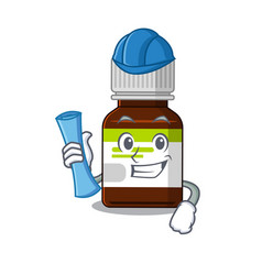 Caricature picture antibiotic bottle architect vector