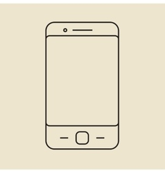 Cell phone icon Thin line vector image
