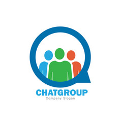 chat group logo design vector image