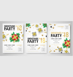 christmas party 2018 new year celebration vector image