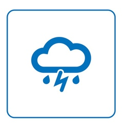 Cloud lightning rain icon vector image