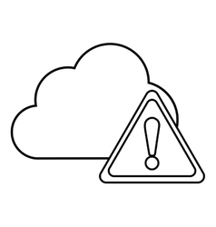 Cloud triangle cyber security system design vector