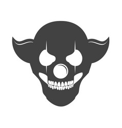 Clowny skull head logo symbol vector