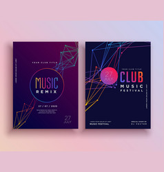 Club music party flyer template design vector