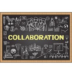 collaboration on chalkboard vector image