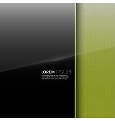 Dark glossy blank with a background texture vector image