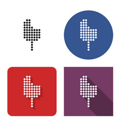 dotted icon bitten ice cream in four variants vector image