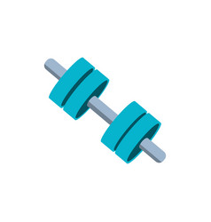Dumbbell sport isolated icon vector