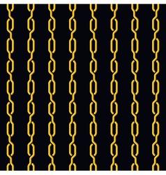 Fashion seamless pattern golden chain on dark vector