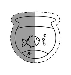 Fish aquarium pet isolated icon vector