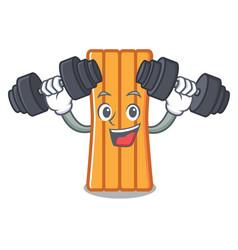 fitness air mattress character cartoon vector image