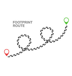 footsteps footprint trekking route follow foot vector image