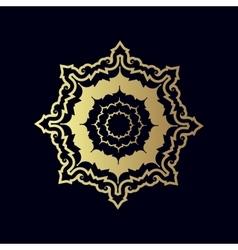 Golden geometric figure or decorative ornament vector image