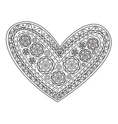 graphic heart vector image
