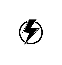 high voltage electric danger warning flat icon vector image