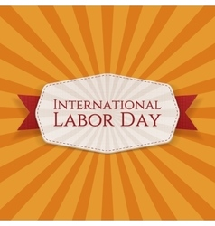 International Labor Day realistic Banner Template vector image