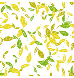 Leaves leaf fall seamless floral pattern vector