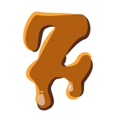 Letter Z from caramel icon vector image