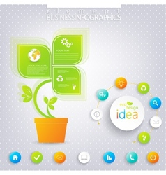 Modern green infographic design with place for vector
