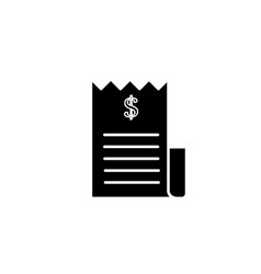 Money check black icon vector