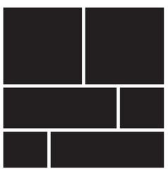 mood board vector image