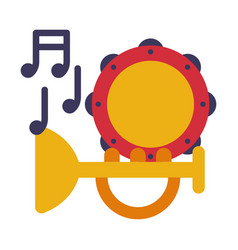 music lesson symbols education schooling and vector image