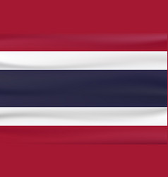 new type flag of thailand country with red blue vector image