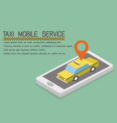online mobile taxi order service app concept vector image