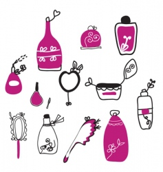 perfume cartoons vector image