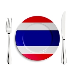 Plate with flag of Thailand vector
