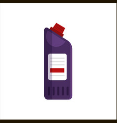 purple plastic bottle isolated on white background vector image