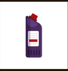 purple plastic bottle isolated on white background vector image