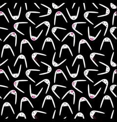 Rabbit seamless pattern-20 vector