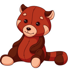 red panda plush and soft toy vector image