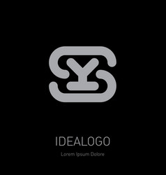 s and y logo sy - design element or icon initial vector image