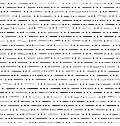 seamless hand drawn pattern with lines and dots vector image
