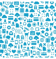 seamless pattern of web icons vector image