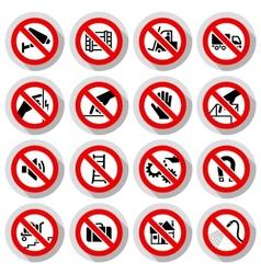 Set icons Prohibited symbols vector