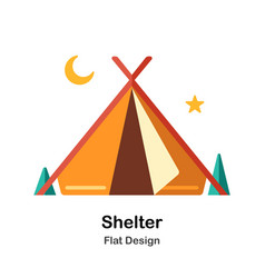 Shelter flat icon vector