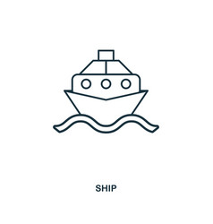 ship icon outline style icon design ui vector image