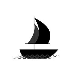 ship on waves vector image