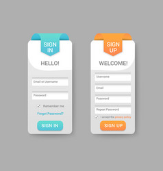 sign in and sign up form pages vector image