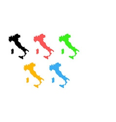 Silhouette of italy on map vector
