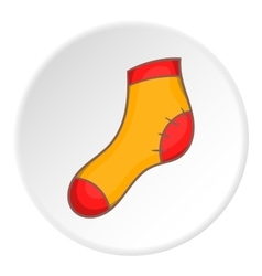 Sock icon cartoon style vector image