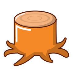 stump icon cartoon style vector image