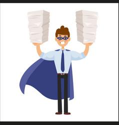 Superhero business man vector